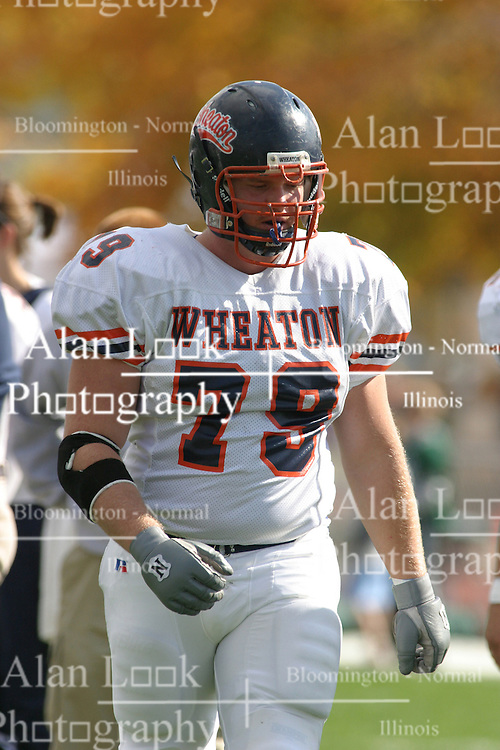 22 October 2005: Thunder OL Todd Cross. The Illinois Wesleyan Titans posted a 23 - 14 home win by squeeking past the Thunder of Wheaton College at Wilder Field (the 5th oldest collegiate field in the US) on the campus of Illinois Wesleyan University in Bloomington IL
