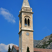 St. Eustace&rsquo;s Church in Dobrota, Montenegro<br /> St. Eustace&rsquo;s Church, which was built in 1773, is classified as having a Baroque facade. But when the bell tower was added during the 19th century, the architects introduced a few Venetian Gothic elements surrounding the belfry. Crkva Sv Eustahija is dedicated to Saint Eustace who was martyred in 119 AD because of his Christian faith. Eust&aacute;chius is the patron saint for those who suffer from adversity.