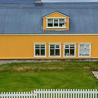 Scene on Vigur Island in Iceland.