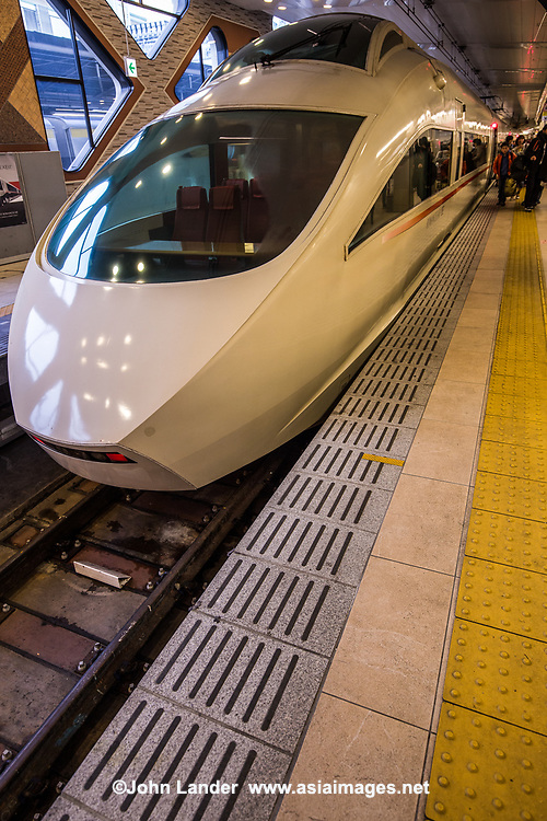 """The Romance Car"" is a private railway run by Odakyu, offering the fastest link between the Odakyu Line terminal in Tokyo's Shinjuku Station and a variety of appealing sightseeing spots close to Tokyo: Hakone, one of Japan's best known hot spring (onsen) areas and the gateway to Mount Fuji, as well as Enoshima Island, with its beaches on the Pacific Ocean and Kamakura nearby. Though not as fast as the Shinkansen or bullet train, the Romance Car is comfortable and has few stops between Tokyo and Hakone or Enoshima."