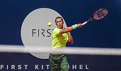 08.08.2015, Sportpark, Kitzbuehel, AUT, ATP World Tour, Generali Open, Finale, Einzel, im Bild Philipp Kohlschreiber (GER) // Philipp Kohlschreiber of Germany in action during men' s singles Final match of the Generali Open tennis tournament of the ATP World Tour at the Sportpark in Kitzbuehel, Austria on 2015/08/08. EXPA Pictures © 2015, PhotoCredit: EXPA/ JFK