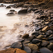 Sunset with long exposures at Crescent Bay in Laguna Beach, CA Wednesday July 8th, 2015 at high tide.