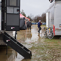 Heavy rains overnight meant much of the course was under water.  ©Brian Nelson