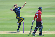 Brad Taylor of Hampshire bowling during the Royal London One Day Cup match between Hampshire County Cricket Club and Essex County Cricket Club at the Ageas Bowl, Southampton, United Kingdom on 23 May 2018. Picture by Dave Vokes.