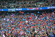 Crystal Palace fans release their balloons before the FA Cup Final at Wembley Stadium, London<br /> Picture by Alan Stanford/Focus Images Ltd +44 7915 056117<br /> 21/05/2016