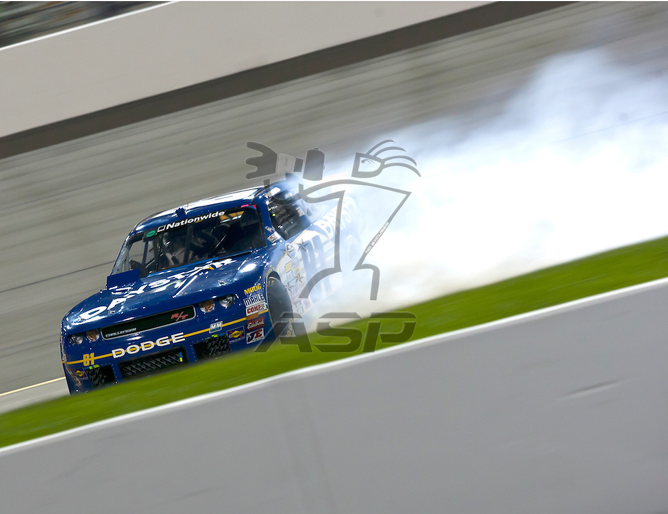 RICHMOND, VA  - SEP 09, 2011: Blake Koch gets spun out by Aric Almirola during the Virginia 529 College Savings 250 at the Richmond International Raceway in Richmond, VA.