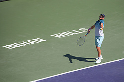 March 16, 2019 - Indian Wells, CA, U.S. - INDIAN WELLS, CA - MARCH 16: Dominic Thiem (AUT) serves during the BNP Paribas Open on March 16, 2019 at Indian Wells Tennis Garden in Indian Wells, CA. (Photo by George Walker/Icon Sportswire) (Credit Image: © George Walker/Icon SMI via ZUMA Press)