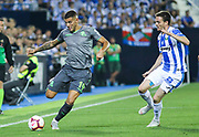 Ojeda of Leganes and Theo of Real Sociedad in action during the spanish league, La Liga, football match between Leganes and Real Sociedad on August 24, 2018 at Butarque stadium in Leganes, Madrid, Spain, Photo by Irina RH / SpainProSportsImages / DPPI / ProSportsImages / DPPI