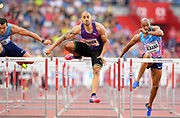 Garfield Darien (FRA) wins the 110m hurdles in 13.09 during the 56th Ostrava Golden Spike in an IAAF World Challenge meeting at Mestky Stadion in Ostrava, Czech Republic on Wednesday, June 28, 20017. (Jiro Mochizuki/Image of Sport)