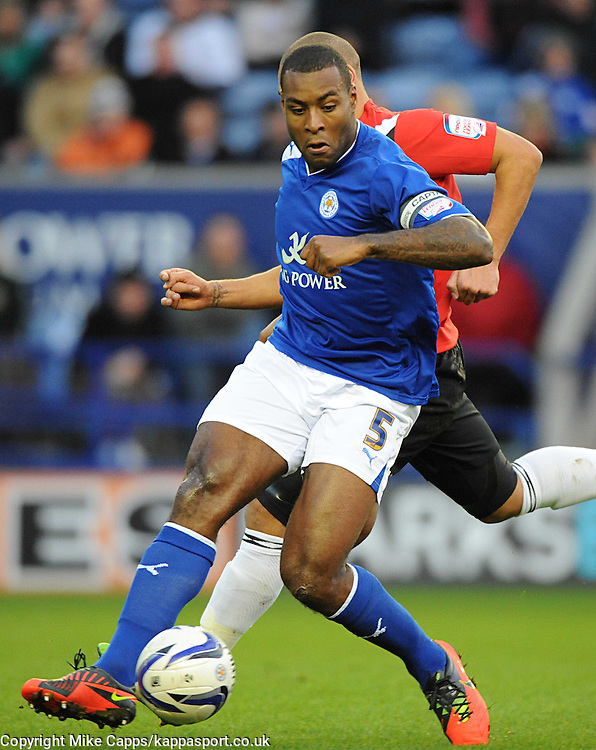 WES MORGAN, LEICESTER CITY, Leicester City v Huddersfield Town, NPOWER Championship,  King Power Stadium, Leicester, Tuesday 1st January 2013