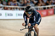 Nicholas Kergozou of New Zealand competes in the Men's Omnium Points race competes in the during the UCI Cycling World Cup at the Avantidrome, Cambridge, New Zealand, Sunday, December 06, 2015. Credit: Dianne Manson/CyclingNZ/UCI