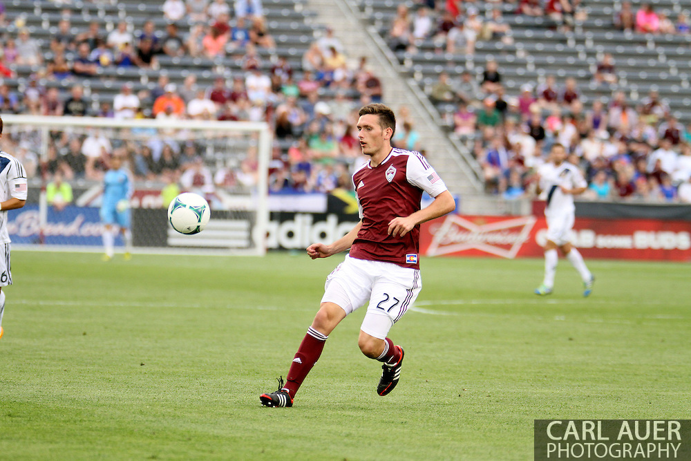July 27th, 2013 - Colorado Rapids midfielder Shane O'Neill (27) tracks down the ball in the second half of the Major League Soccer match between the LA Galaxy and the Colorado Rapids at Dick's Sporting Goods Park in Commerce City, CO