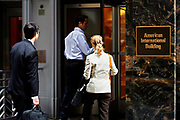 Trouble on Wall Street. AIG, The American International Group have been deregulated, and trading is down at the NYSE New York Stock Exchange. The building on 70 Pine Street served as the AIG World Headquarters until their financial trouble started.