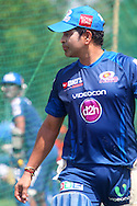 Sachin Tendulkar of Mumbai Indians  during the Mumbai Indians nets session held at the Sawai Mansingh Stadium in Jaipur on the 26th September 2013<br /> <br /> Photo by Ron Gaunt-CLT20-SPORTZPICS <br /> <br /> Use of this image is subject to the terms and conditions as outlined by the CLT20. These terms can be found by following this link:<br /> <br /> http://sportzpics.photoshelter.com/image/I0000NmDchxxGVv4