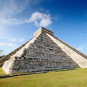 El Castillo (also known as Temple of Kuklcan) at the ancient Mayan ruins at Chichen Itza, Yucatan, Mexico 081216093256_4443.NEF