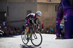 Eugenia Bujak (POL) of BTC City Ljubljsana Cycling Team rides near the top of the final climb of Stage 5 of the Giro Rosa - a 12.7 km individual time trial, starting and finishing in Sant'Elpido A Mare on July 4, 2017, in Fermo, Italy. (Photo by Balint Hamvas/Velofocus.com)