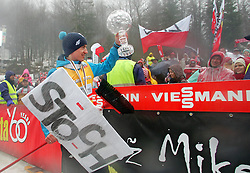 23.03.2014, Planica, Ratece, SLO, FIS Weltcup Ski Sprung, Planica, Siegerehrung, Skisprung, Gesamtwertung, im Bild KAMIL STOCH Sieger Gesamtwertung / KAMIL STOCH on podium of overall mens FIS Ski jumping Worldcup Cup at Planica in Ratece, Slovenia on 2014/03/23. EXPA Pictures © 2014, PhotoCredit: EXPA/ Newspix/ Irek Dorozanski<br /> <br /> *****ATTENTION - for AUT, SLO, CRO, SRB, BIH, MAZ, TUR, SUI, SWE only*****
