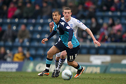 WYCOMBE, ENGLAND - Saturday, February 4, 2012: Wycombe Wanderers' James Harper in action against Tranmere Rovers during the Football League One match at Adams Park. (Pic by David Rawcliffe/Propaganda)