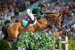 Darragh Kenny, (IRL), Imothep - World Champions, - Second Round Team Competition - Alltech FEI World Equestrian Games™ 2014 - Normandy, France.<br /> © Hippo Foto Team - Leanjo De Koster<br /> 25/06/14