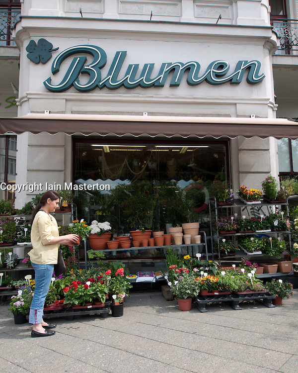 Traditional flower shop in Kreuzberg Berlin Germany