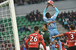 October 21, 2018 - Saint Etienne - Stade Geoffroy, France - Lois Diony (saint etienne) vs Abdoulaye Diallo  (Credit Image: © Panoramic via ZUMA Press)
