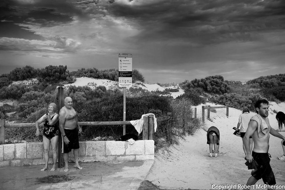 Beach culture in Western Australia.