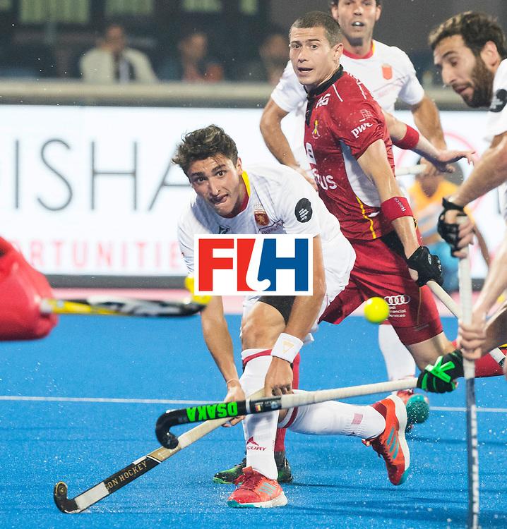 BHUBANESWAR - The Odisha Men's Hockey World League Final . Match ID 07,   Belgium v Spain. WORLDSPORTPICS COPYRIGHT  KOEN SUYK