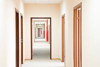Corridor and doorframe perspective