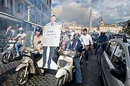 Roma 17 Ottobre 2014<br /> Flash mob e proteste  a piazza del Popolo organizzata dai motociclisti contro la pedonalizzazione del Tridente, vietato ai scooter  che da lunedì 20, quando entrerà in vigore, la nuova disciplina del traffico nella Ztl A1 vieta l'accesso  anche alle due ruote a motore. La manifestazione è stata organizzata dal Nuovo Centrodestra.<br /> Rome October 17, 2014 <br /> Flash mob protests and Piazza del Popolo organized by motorcyclists against the pedestrianization of the Trident, banned to the scooters from Monday 20, when it enters into force, the new discipline of traffic in Ztl A1 prohibits access to the two-wheeler. The event was organized by the center-right New.