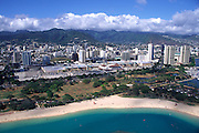 Ala Moana Beach Park and Ala Moana Mall, Waikiki, Oahu, Hawaii, USA<br />