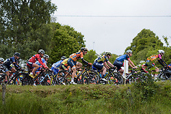 Amy Pieters in the bunch at the Crescent Vargarda - a 152 km road race, starting and finishing in Vargarda on August 13, 2017, in Vastra Gotaland, Sweden. (Photo by Sean Robinson/Velofocus.com)