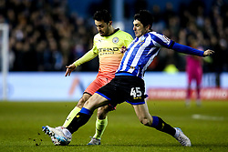 Bernardo Silva of Manchester City is tackled by Fernando Forestieri of Sheffield Wednesday - Mandatory by-line: Robbie Stephenson/JMP - 04/03/2020 - FOOTBALL - Hillsborough - Sheffield, England - Sheffield Wednesday v Manchester City - Emirates FA Cup fifth round