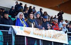 ZENICA, BOSNIA AND HERZEGOVINA - Tuesday, November 28, 2017: Bosnia and Herzegovina supporters before the FIFA Women's World Cup 2019 Qualifying Round Group 1 match between Bosnia and Herzegovina and Wales at the FF BH Football Training Centre. (Pic by David Rawcliffe/Propaganda)