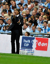 14.05.2011, Wemblay Stadium, ENG, FA CUP FINALE, Manchester City vs Stoke City im Bild Manchester City manager Roberto Mancini..Manchester City v Stoke City,. FA Cup Final,.Wembley Stadium. London. UK. .14/05/11, EXPA Pictures © 2011, PhotoCredit: EXPA/ IPS/ S. Ryan *** ATTENTION *** UK AND FRANCE OUT!