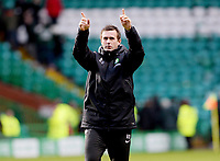 14/12/14 SCOTTISH PREMIERSHIP<br /> CELTIC V ST MIRREN<br /> CELTIC PARK - GLASGOW<br /> Celtic manager Ronny Deila applauds the home support at full-time after their win.