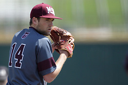 26 April 2015:  Bears pitcher Jordan Knutson during an NCAA Division I Baseball game between the Missouri State Bears and the Illinois State Redbirds in Duffy Bass Field, Normal IL