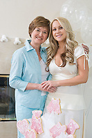 Bride and Friend standing Together at Bridal Shower