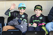 Young FGR fans during the EFL Sky Bet League 2 match between Forest Green Rovers and Morecambe at the New Lawn, Forest Green, United Kingdom on 17 November 2018.