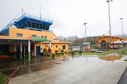 The main terminal building of Charles Douglas airport on the Caribbean island of Dominica. The was devastated by the category 5 Hurricane Maria on Sept 19th, and the Prime Minister of the country, Roosevelt Skerrit requested emergency international asssitance. The UK already had military aircraft in the region responding to the damaged caused by Hurricane Irma. A Chinook helicopter from 27 Squadron RAF was tasked to take a needs assessment team to the island, made up of expert Royal Engineers, humanitarian experts from DFID and the UN, and members of the Caribbean Disasters & Emergencies Management Agency. The team was the first international assistance to arrive on the island at Douglas Charles airport, which was cut-off by the storm.