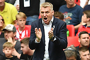 Aston Villa Manager Dean Smith  during the EFL Sky Bet Championship play off final match between Aston Villa and Derby County at Wembley Stadium, London, England on 27 May 2019.