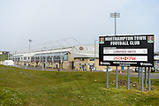 "'Sold out"" signs at Sixfields stadium during the Sky Bet League 2 match between Northampton Town and Cambridge United at Sixfields Stadium, Northampton, England on 12 March 2016. Photo by Dennis Goodwin."