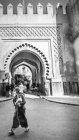 On the streets of Fez, Morocco.