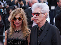 Sara Driver and Jim Jarmusch at the gala screening for the film Paterson at the 69th Cannes Film Festival, Monday 16th May 2016, Cannes, France. Photography: Doreen Kennedy
