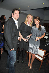 Left to right, BEN & TANIA MUSGRAVE and CAROLINA TONG at a dinner hosted by Ruinart Champagne for Yasmin Mills at Nobu, Park Lane, London on rth May 2009.