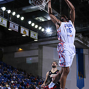 Delaware 87ers Forward Rahlir Hollis-Jefferson (15) drives towards the basket and dunks the ball in the first half of a NBA D-league regular season basketball game between the Delaware 87ers and the Erie BayHawk (Orlando Magic) Friday, Mar. 27, 2015 at The Bob Carpenter Sports Convocation Center in Newark, DEL.