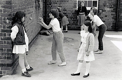 Playground, primary school, Nottinghamshire UK 1986