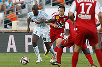 FOOTBALL - FRENCH CHAMPIONSHIP 2011/2012 - L1 - OLYMPIQUE MARSEILLE v STADE BRESTOIS  - 2/10/2011 - PHOTO PHILIPPE LAURENSON / DPPI - ALOU DIARRA (OM)