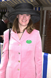 MISS GEORGINA BOWES-LYON, a cousin of the Queen <br /> Mother, at Royal Ascot on 20th June 2000.OFN 17<br /> © Desmond O'Neill Features:- 020 8971 9600<br />    10 Victoria Mews, London.  SW18 3PY <br /> www.donfeatures.com   photos@donfeatures.com<br /> MINIMUM REPRODUCTION FEE AS AGREED.<br /> PHOTOGRAPH BY DOMINIC O'NEILL