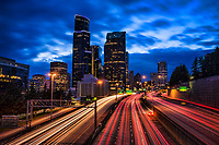 Downtown Seattle & Interstate 5 @ Blue Hour
