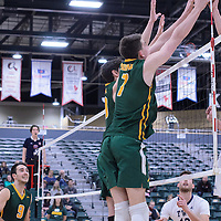 Regina during the Men's Volleyball Home Game vs Trinity Western  on October 28 at the CKHS University of Regina. Credit Matt Johnson/Arthur Images